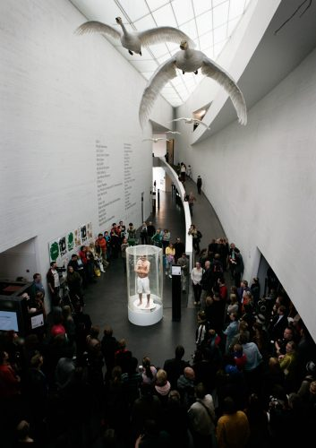 Snowman, 2006, Performance in Kiasma. Helsinki.
