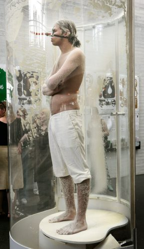 Snowman, 2006, Performance in Kiasma. Helsinki.