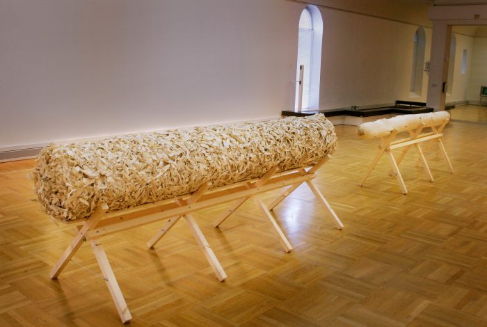 Puzzle, 2009, sculpture, timber, 1,3m x 1m x 7m